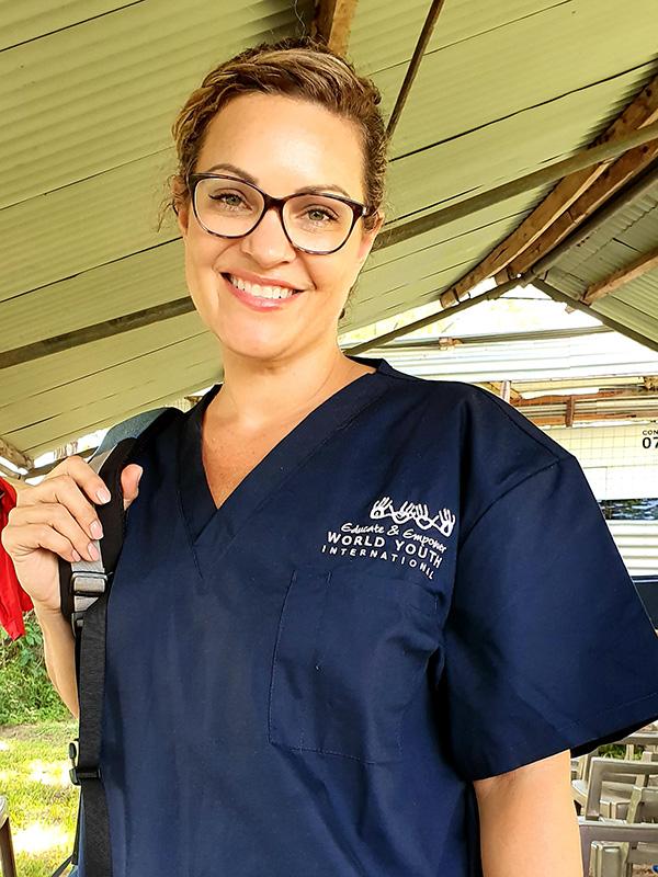 Helen working for WYI Nurses in Action in Kenya